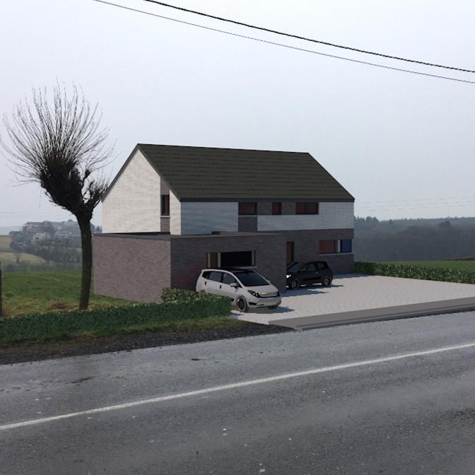 Maison à ossature bois à Moresnet
